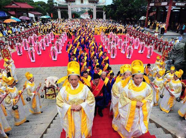 福建湄洲岛妈祖庙祈年典礼