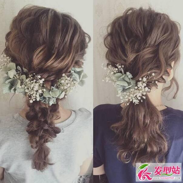 鲜花新娘造型长发分享展示
