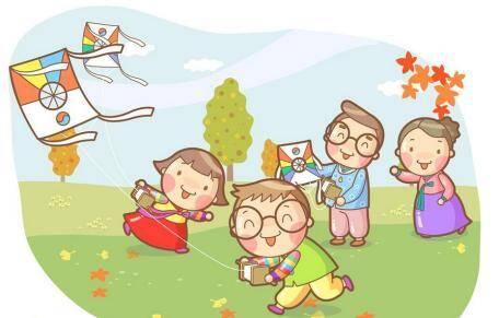 小公园放风筝简笔画分享展示
