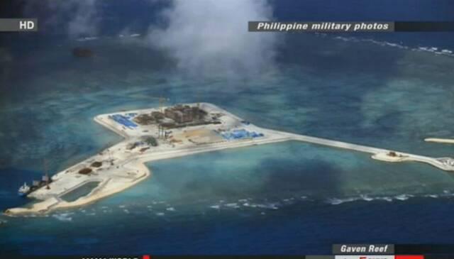 日媒播出中国南海填海扩建近距画面