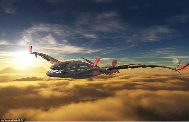 无惧空难:未来概念飞机外形炫酷