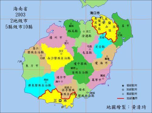 海南省行政区划地图图片
