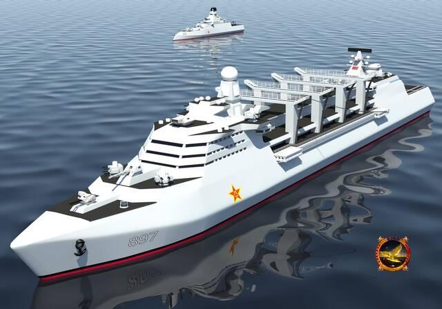 """超震撼!中国海军未来""""全电磁""""航母编队"""