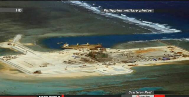 中国南海多个岛礁的扩建工程正在加速进行