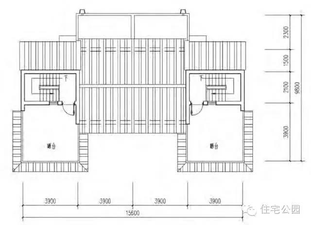 新农村兄弟双拼自建房 16米x10米 带堂屋含平面图