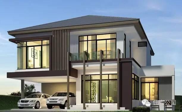 3套现代简约风格自建别墅设计