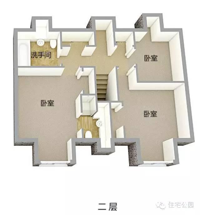 10套新农村自建房1层半2层户型 均含3d平面图-户型4
