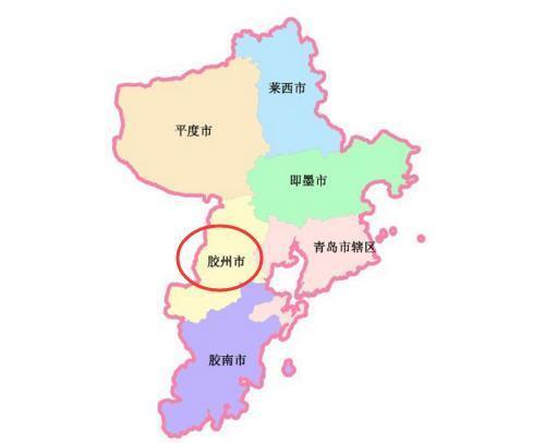 在地理位置上,胶州市东邻青岛市城阳区,西靠高密市,诸城市,南接黄岛区图片