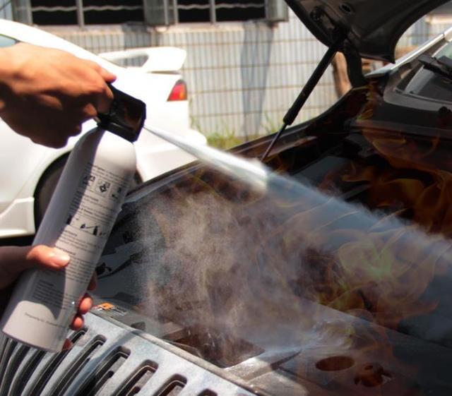 灭火器是一种可携式灭火工具.