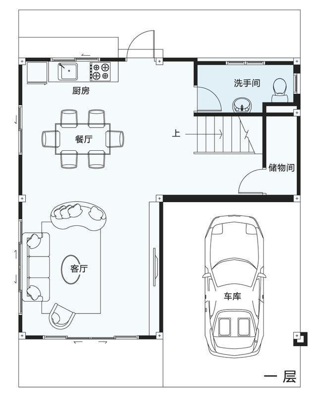 低矮的平房早已不见,大多数都是3层独栋自建房,并且有前后庭院带车库图片