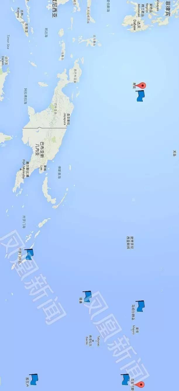 地图 马绍尔群岛