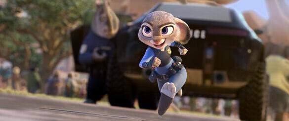 《疯狂动物城》中的朱迪·霍普斯,由金妮弗·古德温配音.