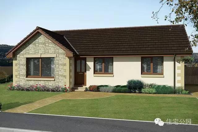 单层宽面别墅设计图