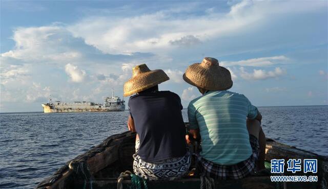 南海美济礁中国渔民养鱼屯海戍边