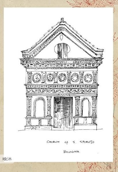 看看梁思成的建筑手绘稿