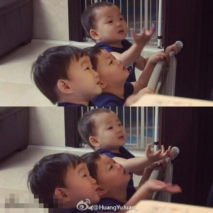 """韩国三胞胎""""大韩民国万岁""""贺年照激萌"""