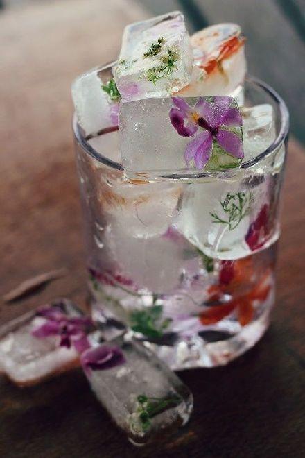 赶紧趁夏天把花冻在冰块里