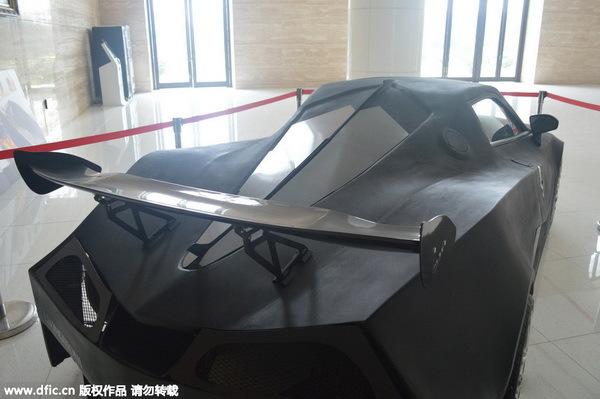 超跑汽车框架结构图