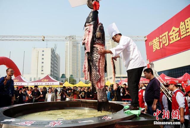 """河南:161斤""""鱼王""""被煮火锅"""