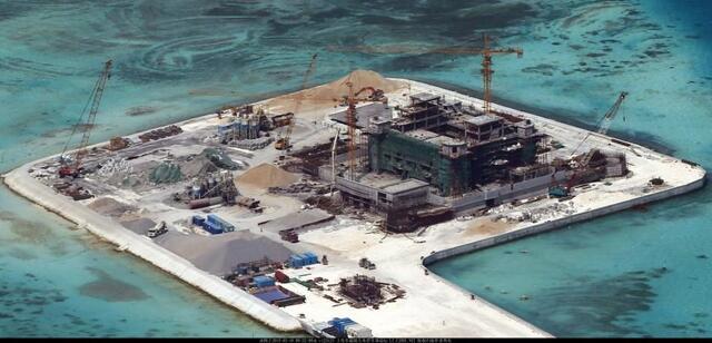 中国南海各岛礁扩建工程启动以来