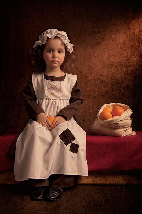 可爱的文艺复兴版儿童摄影