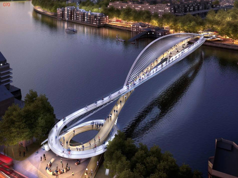 伦敦标志性桥梁设计竞赛 作品美轮美奂