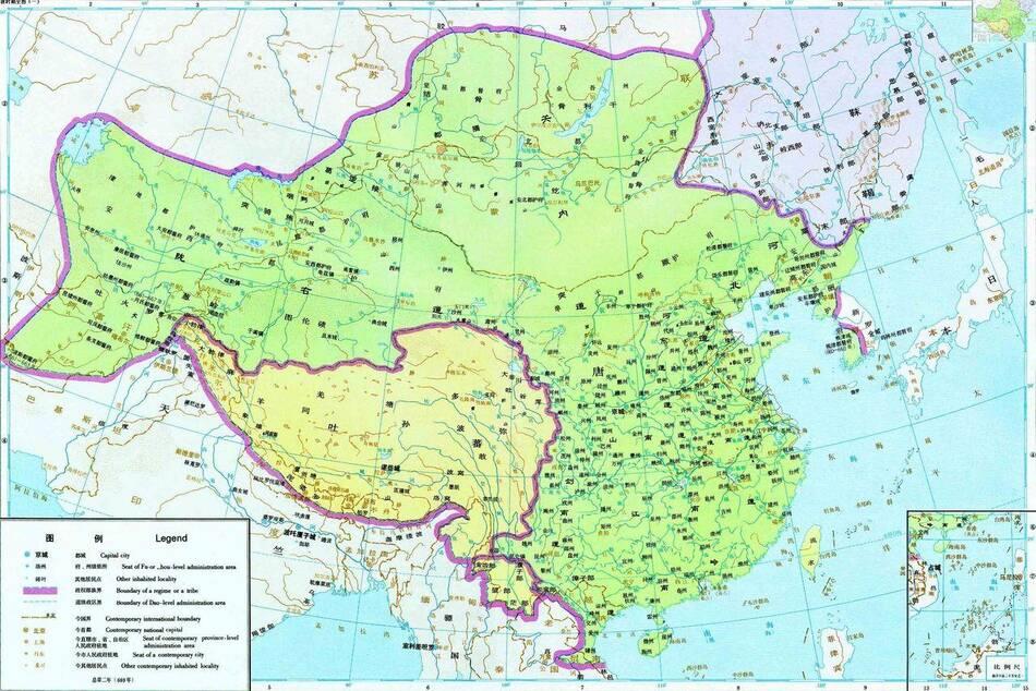 唐朝最少人口的州_唐朝人口密度图
