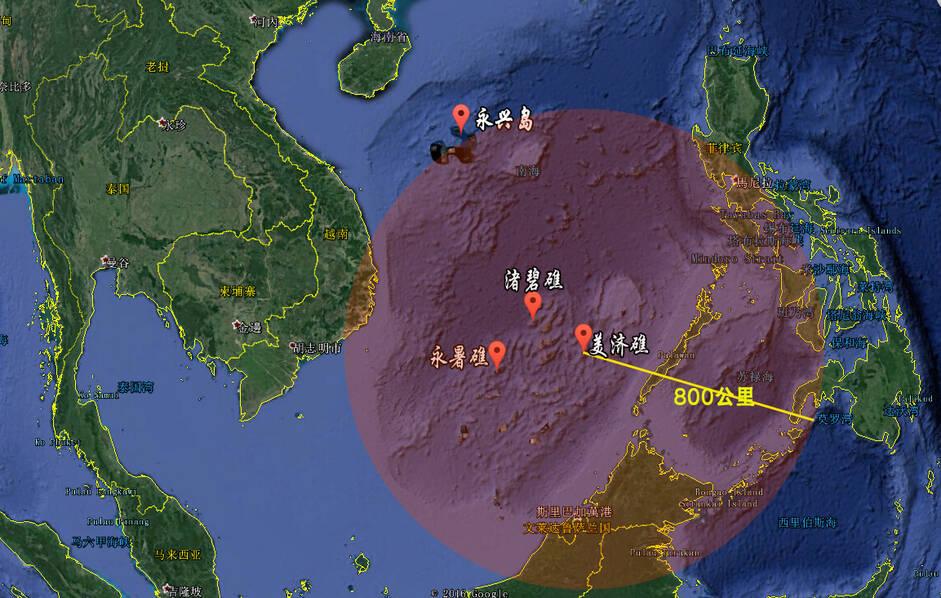 """一图看懂中国""""南沙铁三角"""":已覆盖整个南海 - 春华秋实 - 春华秋实 开心快乐每一天"""