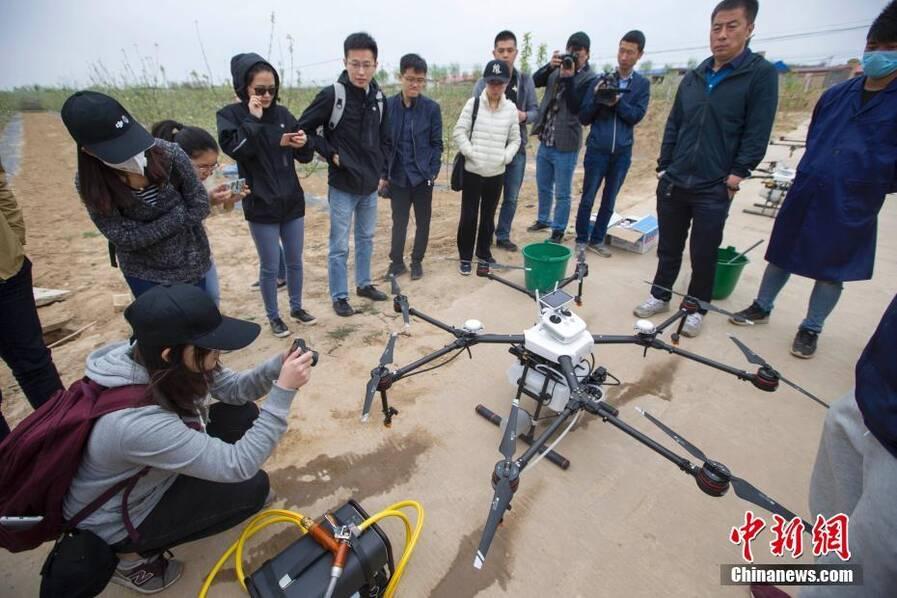 为山西临汾吉县5万亩苹果树提供植保服务.