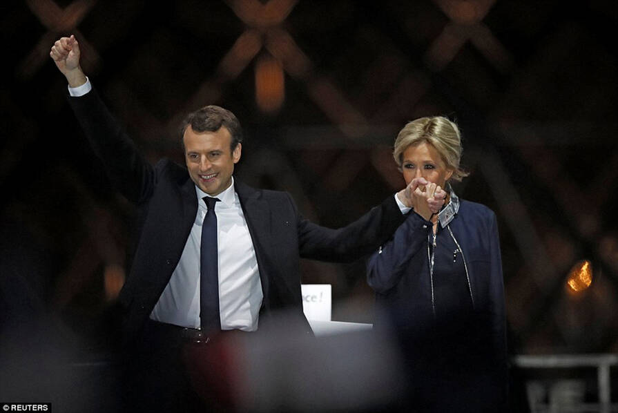 39岁马克龙当选法国总统:已有3名继子和7名继孙 - 天在上头 - 我的信息博客