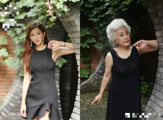 欧美老奶奶以一敌二_70岁老奶奶模仿林志玲 举手投足神还原