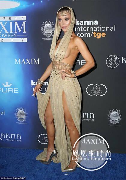 """派对女王驾到!38岁模特Joanna Krupa穿""""侧露装""""性感亮相"""