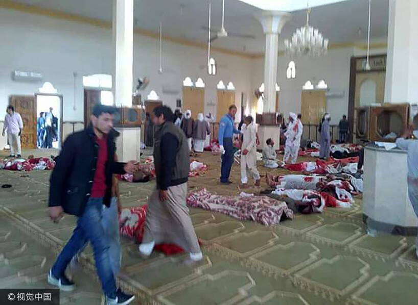 235人死!埃及恐袭现场 清真寺变绞肉场(组图)