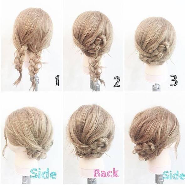简单的编发图解,学会在家也能编出漂亮的发型