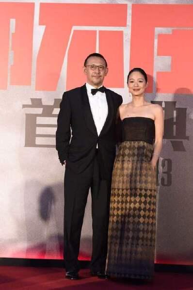 电影《邪不压正》古北水镇举办首映会 许晴穿皮裤酷范儿十足