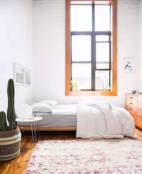 摆脱床头柜的卧房 看起来有惊艳的美!