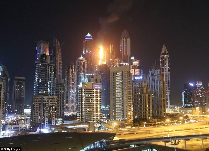 迪拜火炬大厦突发大火 系世界最高居民楼之一(图)