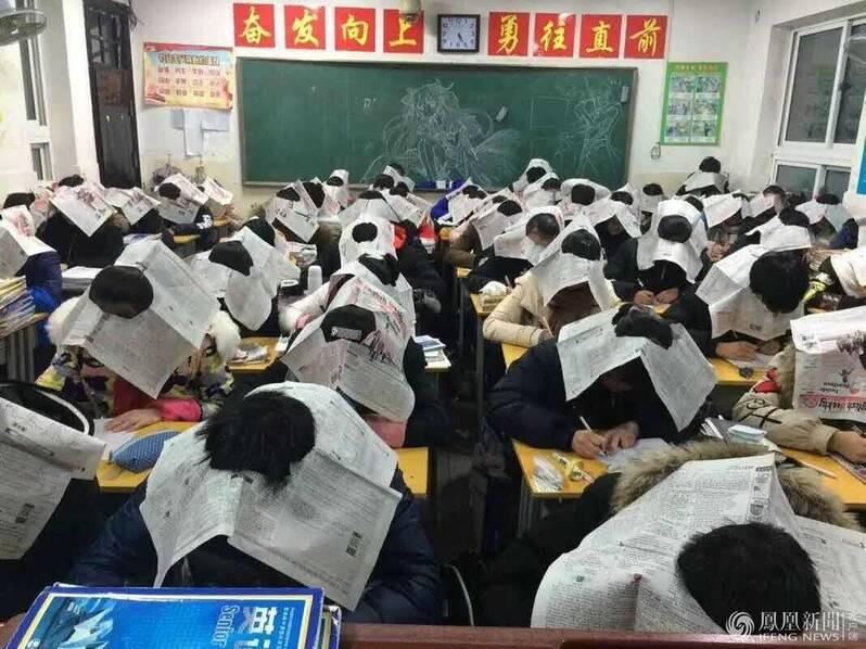 为防学生作弊 这组照片引发网友声讨(高清组图)