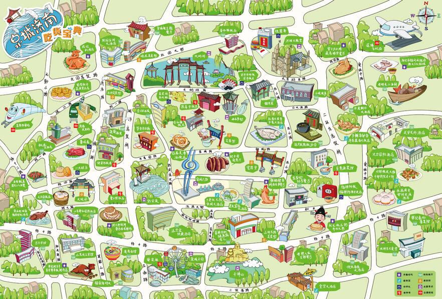 山东推出首张手绘美食地图《泉城济南·吃货宝典》