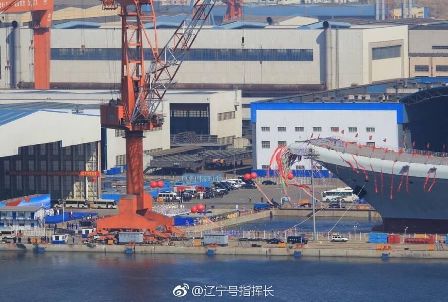 中国第二艘航空母舰下水 范长龙出席仪式并致辞 - 坚必成 - 坚必成.blog.com