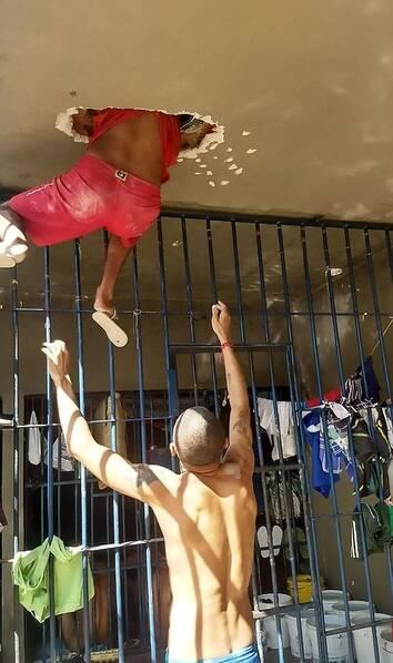 巴西一监狱囚犯越狱不成