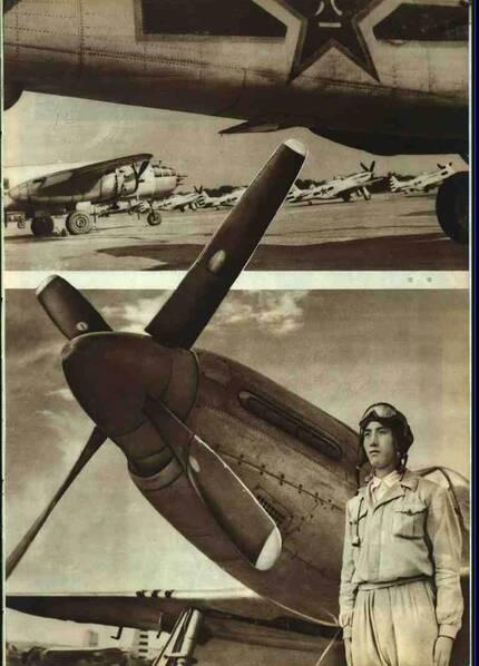 建国初期的陆军、海军和空军形象。