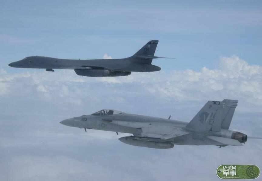 美国致命空中组合飞抵菲律宾上空目标对准中国航母和战舰 - 坚必成 - 坚必成.blog.com