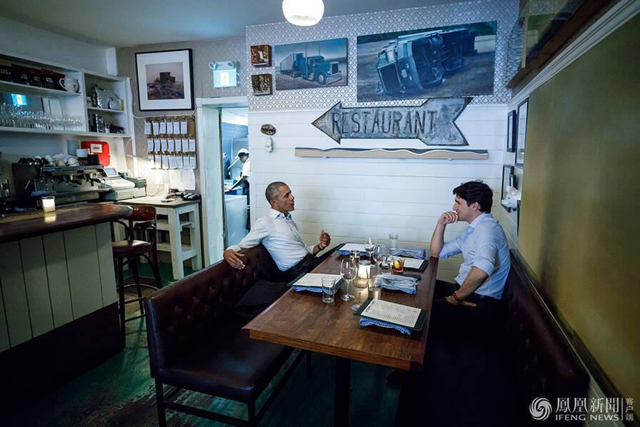 奥巴马到访演讲 特鲁多未公开露面 私下与他约饭