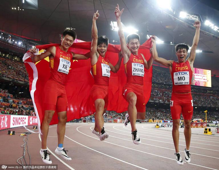 亚洲速度!世锦赛男子4X100米接力中国队夺银创造历史 - li-han163 - 李 晗
