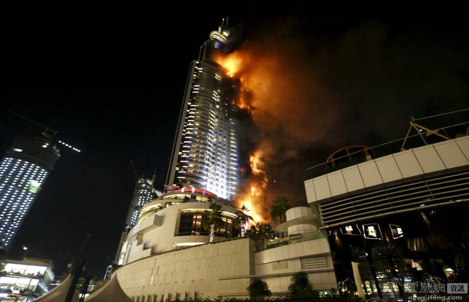 迪拜302米高酒店跨年夜被大火吞噬_资讯频道_凤凰网