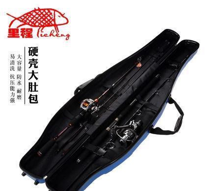 户外多功能防水渔具包,两三层带支架鱼竿包,厂家直销