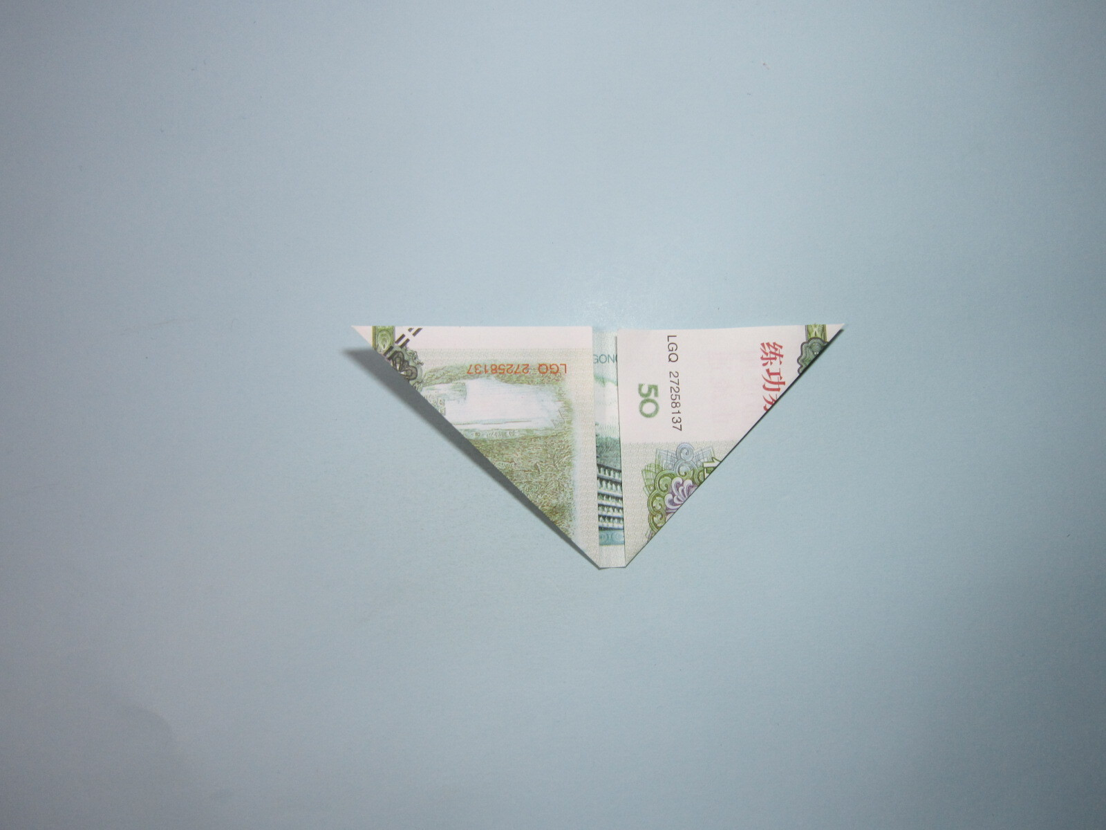 用钱折纸花,步骤详细图解