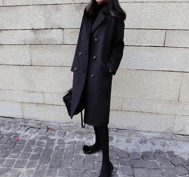 什么焦糖色,雾霾蓝,毛呢大衣我最爱经典的黑色