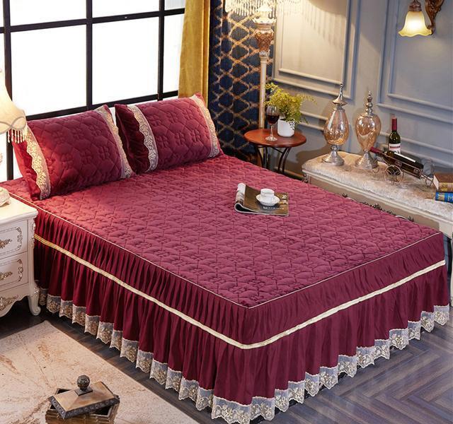 韩版床罩床裙式单件荷叶边1.5m1.8米2.0床套双人席梦思保护套欧式